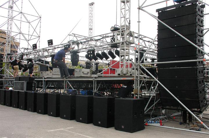 lắp đặt sân khấu - cho thuê sân khấu